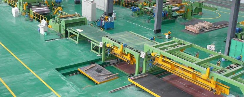 Máquina de corte longitudinal de chapa de acero